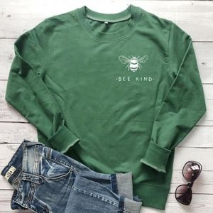 Bee kind long sleeve pullover